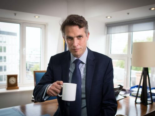 Education Secretary Gavin Williamson said the UK is getting a coronavirus vaccine first because it is a 'much better country' than France, Belgium and the US (Stefan Rousseau/PA)