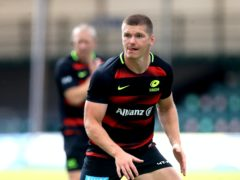 England fly-half Owen Farrell's Saracens side will be playing Championship rugby next season (Adam Davy/PA)