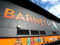 Barnet played at home to Stockport (Mike Egerton/PA)