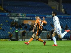 Greg Docherty secured a point for Hull (Oli Scarff/PA)