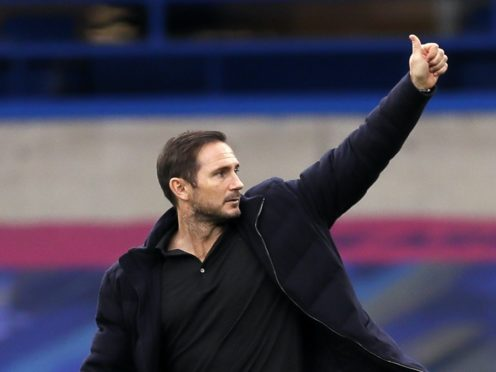 Frank Lampard has given a thumbs-up to staying at Chelsea as manager in the long-run (Kirsty Wigglesworth/PA)