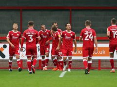 Max Watters (36) bagged a hat-trick for Crawley (Kieran Cleeves/PA)