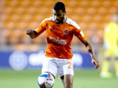 CJ Hamilton hit the woodwork for Blackpool (Nigel French/PA)