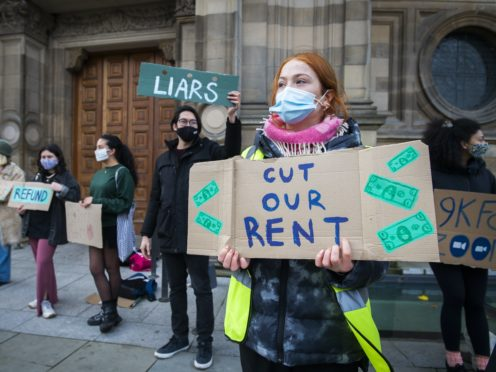 Students will be able to apply for discretionary funding to help with accommodation costs (Jane Barlow/PA)