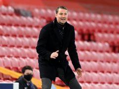 FC Midtjylland head coach Brian Priske (Michael Regan/PA)