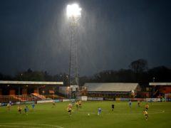 The fans return to Cambridge's Abbey Stadium was overshadowed on Tuesday (Joe Giddens/PA)