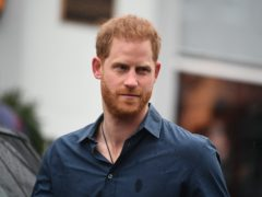 The Duke of Sussex chatted to past winners (Victoria Jones/PA)