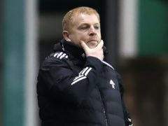 """Celtic manager Neil Lennon is concerned about the """"dangerous rhetoric"""" contained in a banner outside Parkhead (Andrew Milligan/PA)"""
