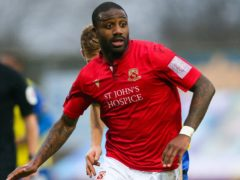 Yann Songo'o was the match-winner for Morecambe at Colchester (Barrington Coombs/PA)