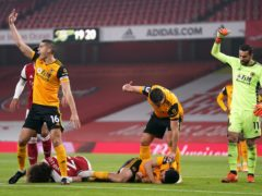Raul Jimenez suffered the injury against Arsenal (John Walton/PA)