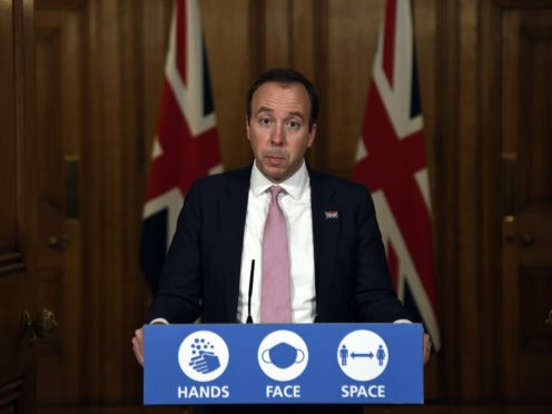 Health Secretary Matt Hancock has been criticised for saying that Brexit had helped the UK become the first country in the world to authorise a coronavirus vaccine (Alberto Pezzali/PA)