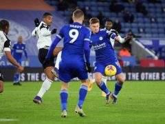 Harvey Barnes pulled a goal back in Leicester's defeat to Fulham. (Mike Regan/PA)