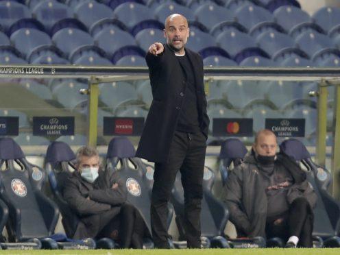 Pep Guardiola's Manchester City drew at Porto (Luis Vieira/AP)