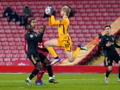 Liverpool goalkeeper Caoimhin Kelleher has made his debut in two competitions over the last week (Jon Super/PA)