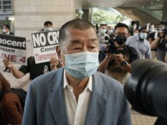 Jimmy Lai, seen here in October, has been denied bail after a court appearance in Hong Kong (Kin Cheung/AP)