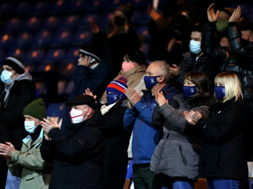 Football welcomed back supporters on Wednesday night (Andrew Matthews/PA)