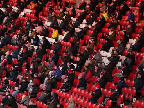 Fans will be welcomed back to the Premier League for the first time since March this weekend (John Walton/PA)