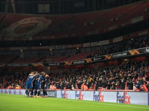 Arsenal welcomed fans back to the Emirates Stadium (Adam Davy/PA)