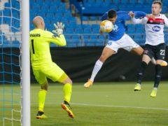 Ohi Omoijuanfo scores the second goal for Molde (Svein Ove Ekornesvag/NTB via AP)
