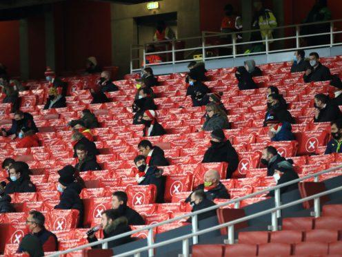 Arsenal fans returned to the Emirates Stadium on Thursday night (Adam Davy/PA)