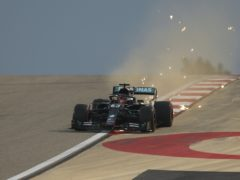 George Russell was fastest in first practice in Bahrain (Tolga Bozoglu/AP)