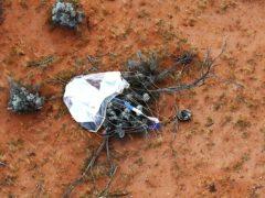 The capsule landed in Woomera, Australia (Jaxa via AP)