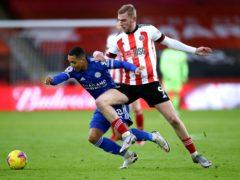Sheffield United's Oli McBurnie (right) sustained a shoulder injury against Southampton (Nick Potts/PA)