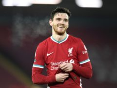 Andy Robertson was asked whether he would prefer to share with James Milner or Trent Alexander-Arnold (Peter Powell/PA)
