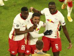 RB Leipzig beat Manchester United 3-2 (Matthias Schrader/AP)
