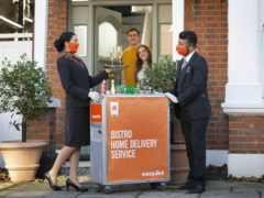 EasyJet is trialling home delivery of its trolley service (Matt Alexander/PA)