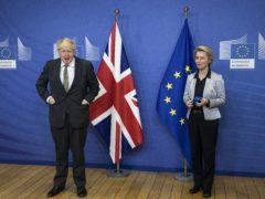 Prime Minister Boris Johnson met European Commission president Ursula von der Leyen for dinner in Brussels on Wednesday (Aaron Chown/PA)
