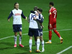 Emil Riis scored Preston's third goal against Middlesbrough (Tim Goode/PA)
