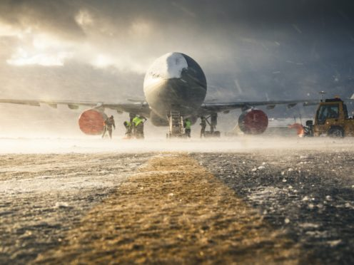 Sgt Andy Holmes' photo, titled Ground Zero, was taken at RAF Mount Pleasant in the Falkland Islands (Sgt Andy Holmes/PA)