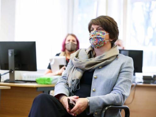 The new strain of coronavirus is probably already in Northern Ireland and the Republic, Arlene Foster said (Kelvin Boyes/Press Eye/PA)