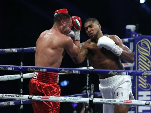 Anthony Joshua retained his IBF, WBA, WBO and IBO world heavyweight title belts with a ninth-round win over Kubrat Pulev (Andrew Couldridge/PA)
