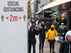 Shoppers have headed back to stores, with footfall figures higher than a week earlier, according to monitoring firm Springboard (Dominic Lipinski/PA)