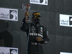 Lewis Hamilton returned to action on Sunday (Brynn Lennon/AP)