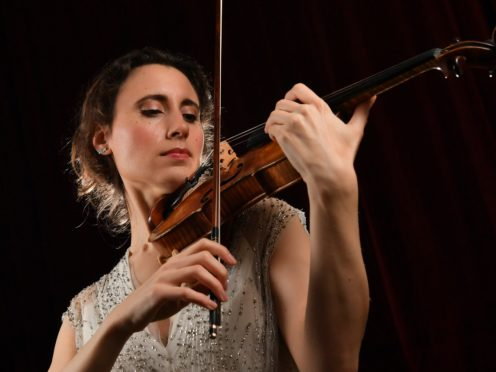 Violin soloist Jennifer Pike during a rehearsal (Ben Birchall/PA)