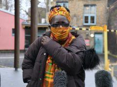 Rosamund Kissi-Debrah speaks to the media outside Southwark Coroner's Court (Kirsty O'Connor/PA)