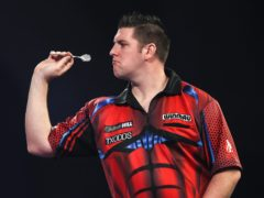 Daryl Gurney (pictured) beat William O'Connor 3-2 at Alexandra Palace (Kieran Cleeves/PA).