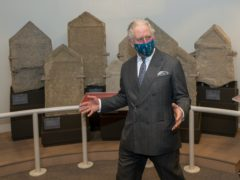 The Prince of Wales during a visit to the Corinium Museum (Arthur Edwards/The Sun/PA)