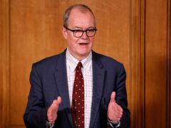 Chief scientific adviser Sir Patrick Vallance during a media briefing in Downing Street, London, on Covid-19 (Tolga Akmen/PA)