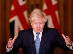 Prime Minister Boris Johnson during a media briefing in Downing Street, London, on Covid-19 (Tolga Akmen/PA Wire)