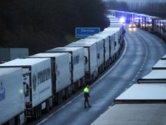 Thousands of lorries have been stranded in Kent after a ban on entering France (Steve Parsons/PA)