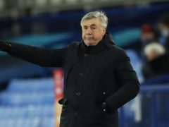 Carlo Ancelotti's side lost at Goodison Park (Nick Potts/PA)