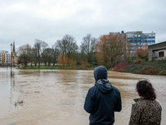 Flooding in Bedford where the River Great Ouse has burst its banks due to Storm Bella (Joe Giddens/PA)