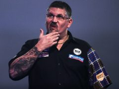 Gary Anderson has cut an irritated figure in recent days (Kieran Cleeves/PA)