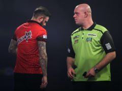 Michael van Gerwen sunk Joe Cullen in a final leg thriller (Kieran Cleeves/PA)