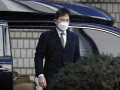 Lee Jae-yong arrives at Seoul High Court (Lee Jin-man/AP)