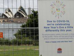 The park near the Sydney Opera House is fenced off (AP/Mark Baker)